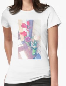 The One With The Porch Flowers Womens Fitted T-Shirt