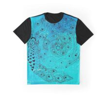 Blue spirals reflection of eterniy Graphic T-Shirt
