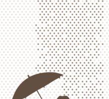 Girl in Plane Rain Sticker