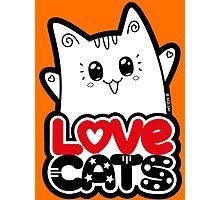 Love Cats - Neko Yoko Cat Photographic Print