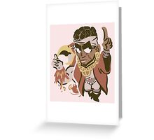 Muhammad Avdol and Magician's Red Greeting Card