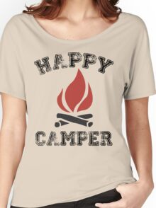 HAPPY CAMPER CAMPING Women's Relaxed Fit T-Shirt