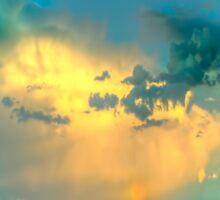 Summer evening sky, Ovens Valley Sticker