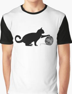 Cat play the Wool Graphic T-Shirt