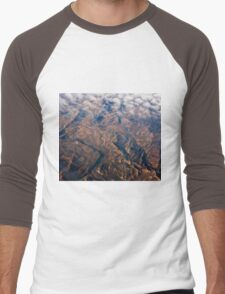 Mountain Abstract V Men's Baseball ¾ T-Shirt