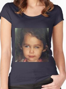 Miley Cyrus as a Baby Women's Fitted Scoop T-Shirt