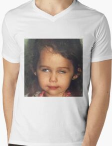 Miley Cyrus as a Baby Mens V-Neck T-Shirt
