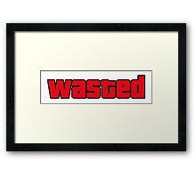 Wasted Framed Print
