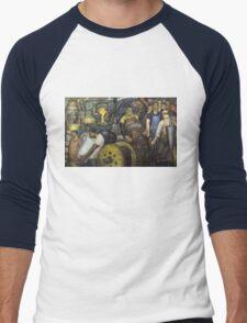 Hard Labor - Charles Wells Mural - The New Deal Men's Baseball ¾ T-Shirt