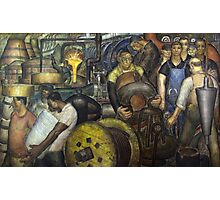 Hard Labor - Charles Wells Mural - The New Deal Photographic Print