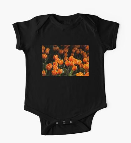 Flame Colored Tulips - Enjoying the Beauty of Spring One Piece - Short Sleeve