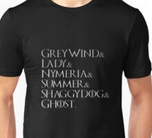 Game Of Thrones Direwolves Unisex T-Shirt