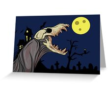 Skull Monster Greeting Card