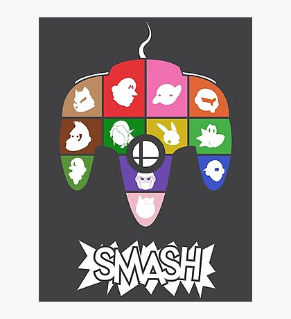 Smash 64 Poster Photographic Print