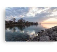 Limpid - Crystal Clear Peaceful Waterfront Sunrise Canvas Print