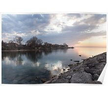 Limpid - Crystal Clear Peaceful Waterfront Sunrise Poster