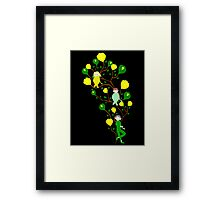 Pixies and Yellow Rose Buds Framed Print