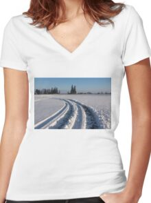 The Long Way Around Women's Fitted V-Neck T-Shirt