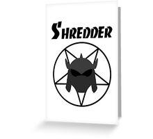 Shredder Greeting Card