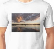 Reflecting on Boats and Clouds III Unisex T-Shirt