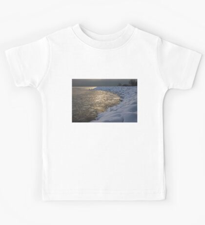 Lily Pad Ice Shines in the Silver Storm Light  Kids Tee