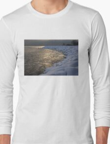 Lily Pad Ice Shines in the Silver Storm Light  Long Sleeve T-Shirt