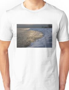 Lily Pad Ice Shines in the Silver Storm Light  Unisex T-Shirt