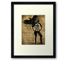 Raven Stay Strong 3 Framed Print