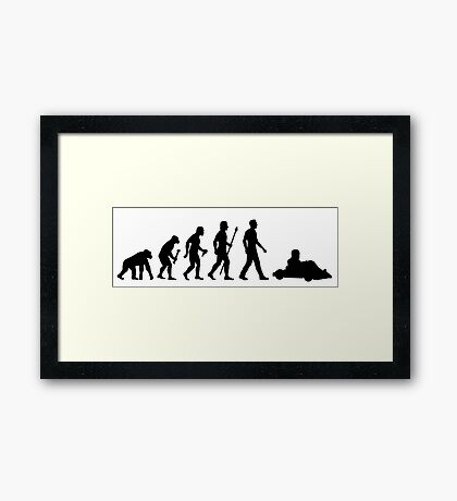 Go Kart Evolution  Framed Print
