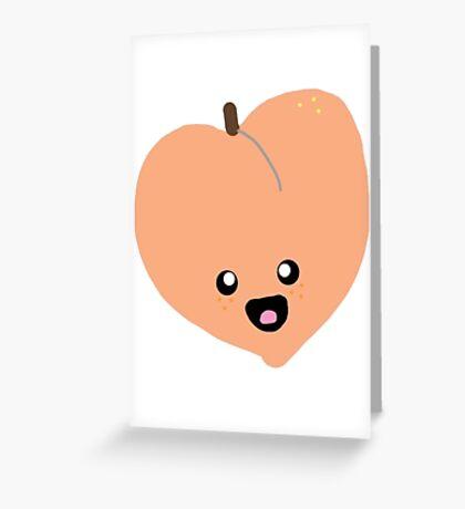 Cute Peach Greeting Card