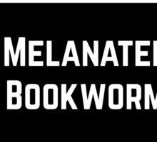 Melanated Bookworm Sticker
