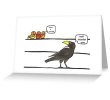 How's it Crowing? Greeting Card