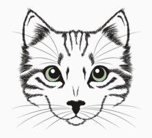 Cute Cat Face Kids Tee