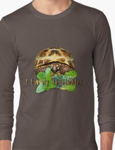 Tortoise - I Eat My Vegetables Long Sleeve T-Shirt