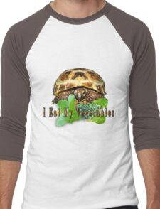 Tortoise - I Eat My Vegetables Men's Baseball ¾ T-Shirt