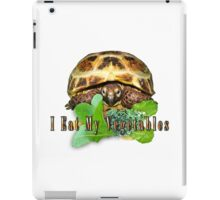 Tortoise - I Eat My Vegetables iPad Case/Skin