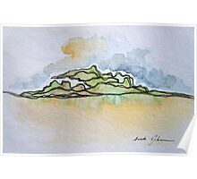 Watercolor Landscape I Poster