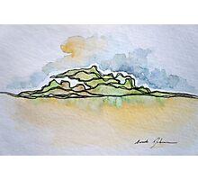 Watercolor Landscape I Photographic Print