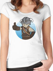 Dovahkiin Boy Women's Fitted Scoop T-Shirt