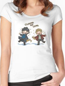 BBC Sherlock - Clueing for Looks Women's Fitted Scoop T-Shirt