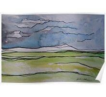 Watercolor Landscape II Poster