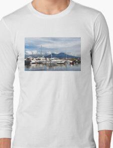 Vesuvius and Naples Harbor - Mediterranean Impressions Long Sleeve T-Shirt