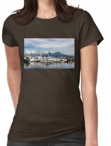Vesuvius and Naples Harbor - Mediterranean Impressions Womens Fitted T-Shirt