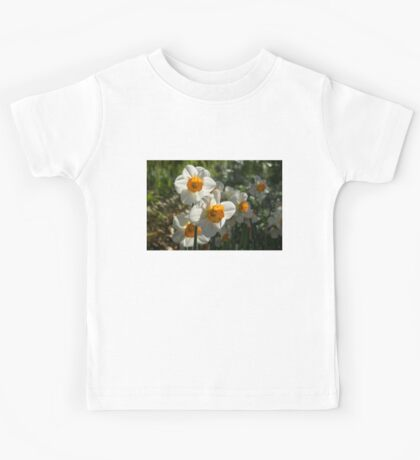 Sunny Side Up - Daffodils Blooming in a Fabulous Spring Garden Kids Tee