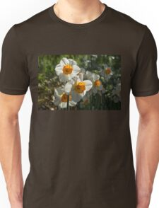 Sunny Side Up - Daffodils Blooming in a Fabulous Spring Garden Unisex T-Shirt