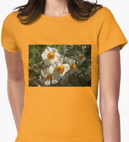 Sunny Side Up - Daffodils Blooming in a Fabulous Spring Garden Womens Fitted T-Shirt