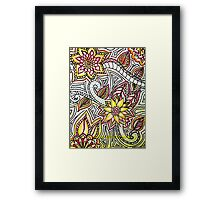 Flower Doodles Framed Print