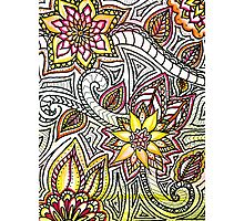 Flower Doodles Photographic Print