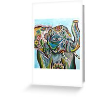Painted Elephant Greeting Card