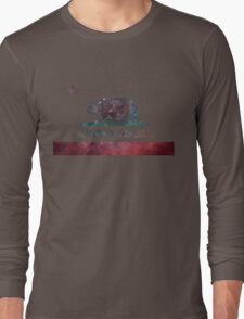 California Flag Nebula Long Sleeve T-Shirt